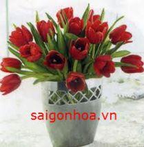 Bình hoa tulip mẫu 3